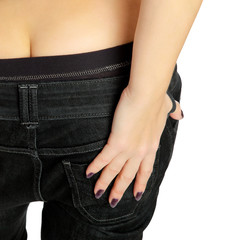 close up of woman bottom