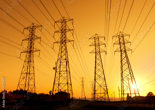 Electric Powerlines - 39218405
