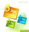 Infographics labels