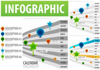 Calendar infographics