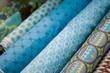 Retales azules para costura