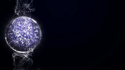 Disco Ball in Particle Background - HD1080