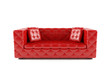 Luxurious red sofa white leather