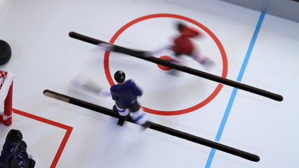 Top View of Ice Hockey Vintage Toy Game