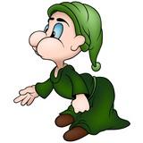 Green Sprite - Cartoon Illustration poster