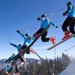 Serie eines Skisprunges