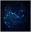 blue Abstract background of digital technologies - 39224879