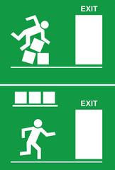 Aufgeräumter Fluchtweg - Ordnung, Notausgang, Sicherheit, Exit