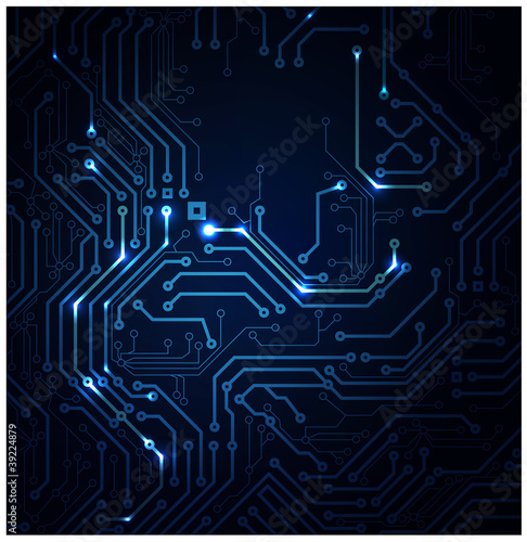 blue Abstract background of digital technologies