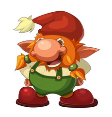 old cheerful gnome