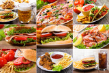 Fototapety collage of fast food