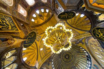 Interior  of Hagia Sophia Mosque, Istanbul
