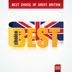 Best Choice Tag with Great Britain flag