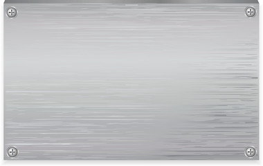 Vector metal plate texture with clincher