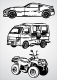 Three vehicles for different purposes - vector