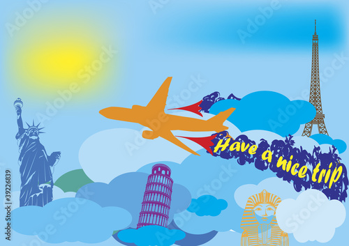 Quot Have A Nice Trip Quot Stock Image And Royalty Free Vector
