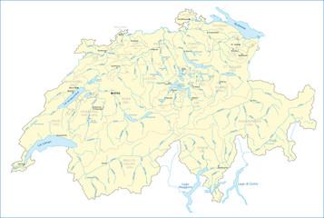 Schweiz Gewässerkarte