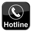 Glossy Button - Telefonhörer Hotline