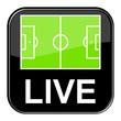 Glossy Button schwarz - Fußball live