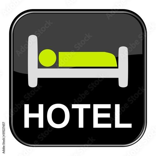 Glossy Button - Bett Hotel