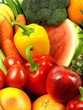 Close-up of fresh and juicy vegetables and fruits