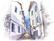 obraz - narrow street (ser...