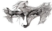 abstrait face décorée (série C)