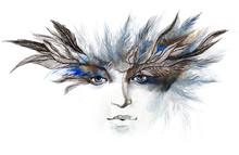plumes autour des yeux (série C)