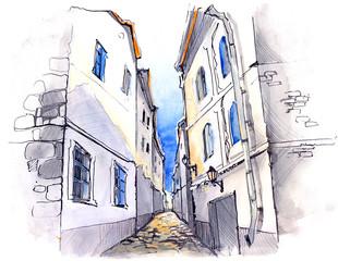 narrow street (series C)