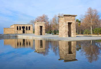 temple Debod, Madrid, Spain
