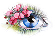 eye with orchid (series C)