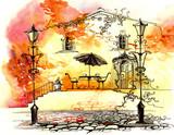 Fototapety autumn street lights (series C)