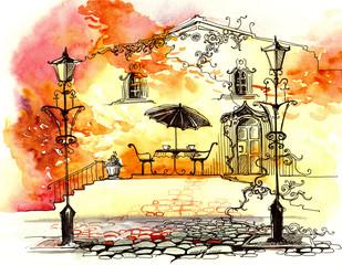 autumn street lights (series C)
