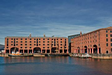 View of Albert Dock, Liverpool, UK
