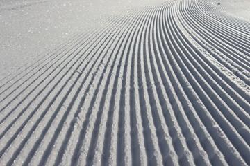 Ratrac track on snow