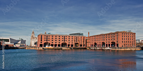 View of Albert Dock, Liverpool, UK