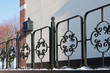 Black painted iron fence