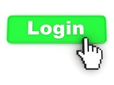 Login Button with Hand Cursor