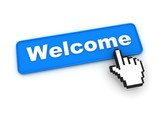 Welcome Button with Hand Cursor