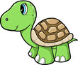 Cute Turtle Animal Vector Illustration