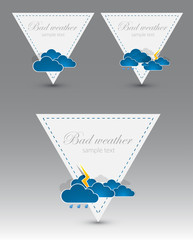 Set of weather triangle elements. Vector