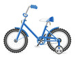 kids bicycle for a boy vector illustration