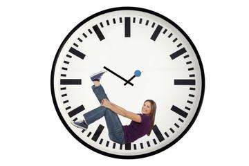 Frau in Uhr