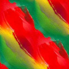 band gouache seamless background green red yellow