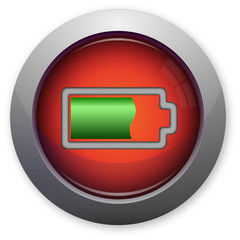 Full battery power indicator on red button