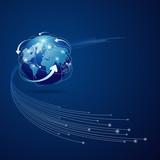 Globe network connection vector illustration