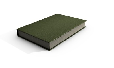 3d render brown book on white background