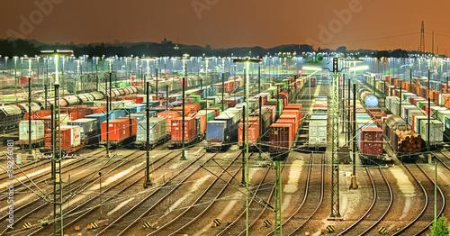 Güterbahnhof in Maschen ( Hamburg )
