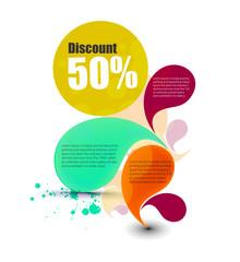 Vector discount banner