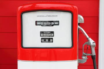 A vintage antique Gasoline fuel pump